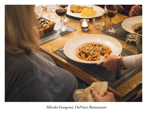 dish of pasta being served at davinci (Copy)