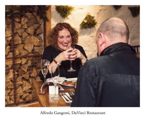enjoying a meal at davinci (Copy)