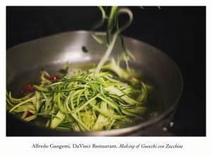making of gnocchi con zucchine (Copy)
